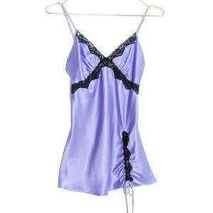 Victoria's Secret • Lace Trim Side Tie Chemise
